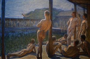 FLOTTANS BADHUS SKEPPSHOLMEN 1907 av EUGÈNE JANSSON