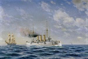PANSAR KRYSSARE HMS FYLGIA OCH MS SAGA av JACOB HÄGG