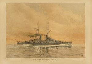 PANSAR BÅTEN HMS SVERIGE av JACOB HÄGG (AFFISCH A1)