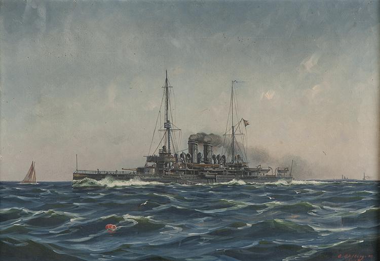 PANSARSKEPPET HMS ÄRAN av ARVID AHLBERG