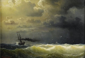 ÅNGFARTYG I STORM 1860 av MARCUS LARSON