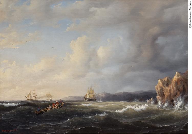 BARKSKEPP KRYSSAR UNDER KULLABERG av MARCUS LARSON