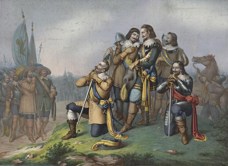 GUSTAV II ADOLF BER FÖRE SLAGET VID LÜTZEN av CARL DOMSCHKE