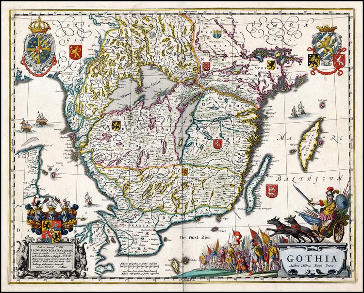 GOTHIA 1688 ANTIK KARTA ÖVER SÖDRA SVERIGE HALLAND SKÅNE