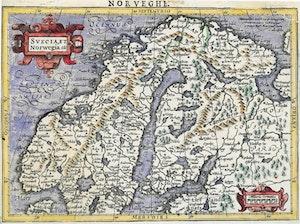 SVERIGE OCH NORGE Atlas Minor Amsterdam 1607