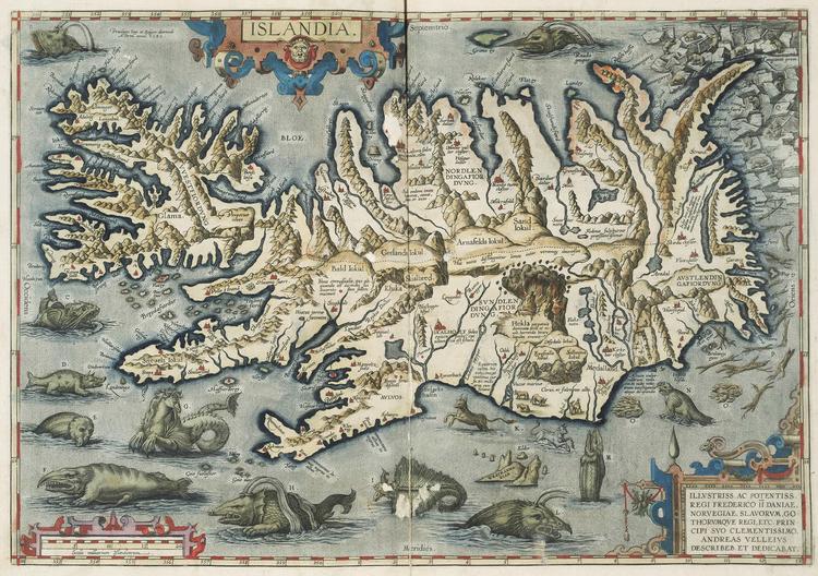 ISLAND av ABRAHAM ORTELIUS 1592