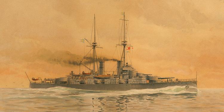 PANSAR BÅTEN HMS SVERIGE DRYCKESBÄGARE Mugg av Jacob Hägg