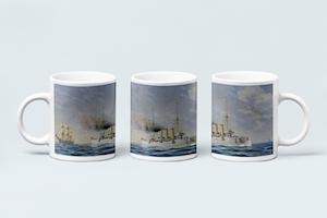 PANSAR KRYSSARE HMS FYLGIA OCH MS SAGA DRYCKESBÄGARE Mugg av Jacob Hägg