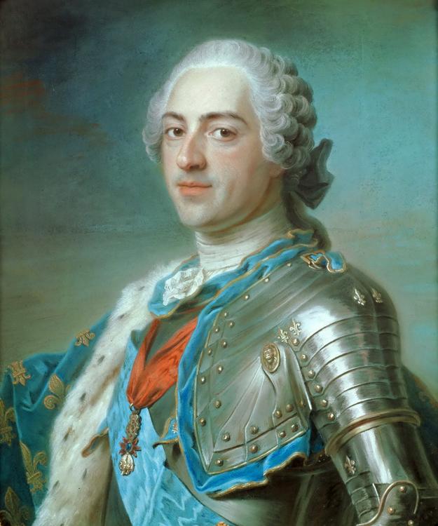 LUDVIG XV 1748 av Maurice-Quentin de la Tour