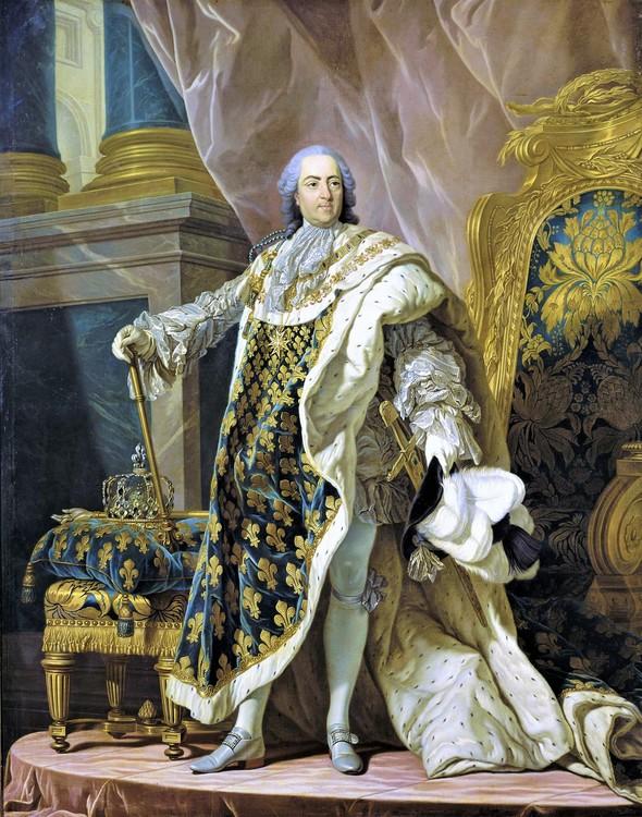 LUDVIG XV I KRÖNINGSSKRUD av Louis-Michel van Loo