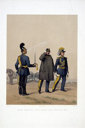 Artilleristaben och Svea artilleriregemente. Efter Fritz von Dardel