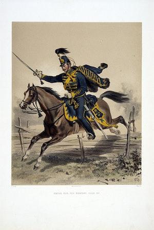Husarregementet Konung Karl XV. Efter FRitz von Dardel