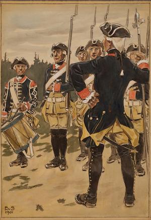 UPPLANDS REGEMENTE ritad av Einar von Strokirch