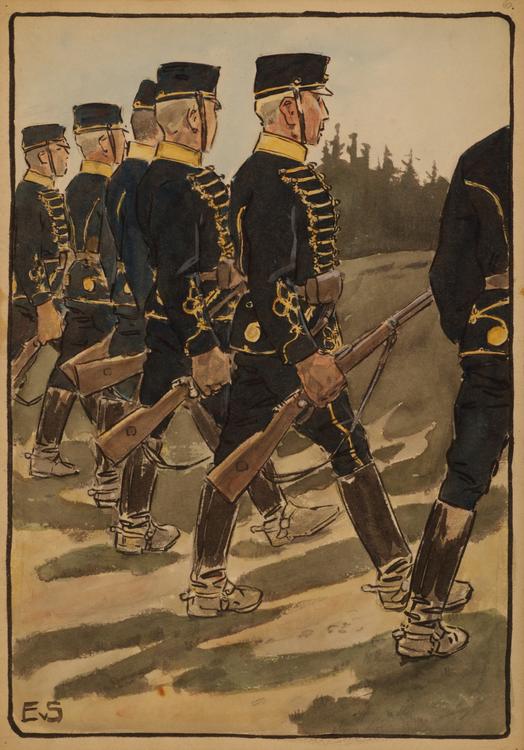 SMÅLANDS HUSARER ritad av Einar von Strokirch