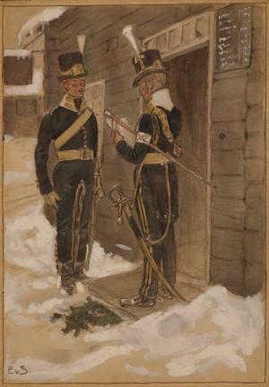 WENDES ARTILLERIREGEMENTE ritad av Einar von Strokirch