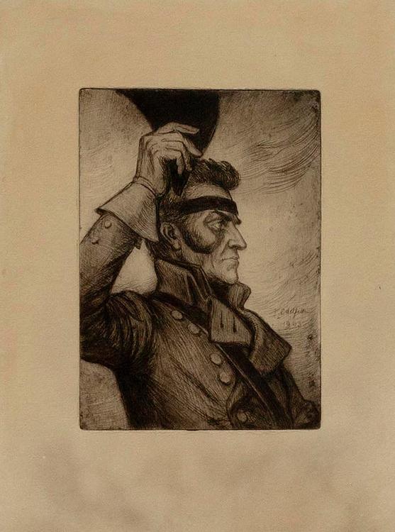 GEORG CARL VON DÖBELN efter etsning av Albert Edelfelt 1903