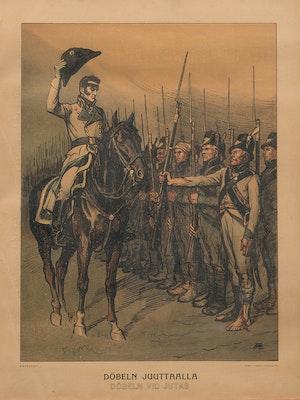 VON DÖBELN VID JUTAS efter litografi av Albert Edelfelt 1902