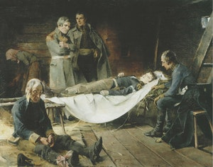 WILHELM VON SCHWERINS DÖD  av  Helene Schjerfbeck