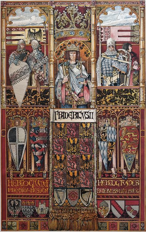 FREDRIK II TYSK ROMERSK KEJSARE av ANTON SEDER