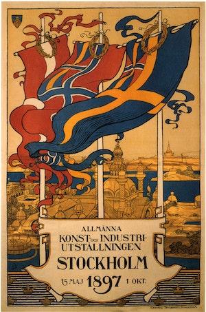 STOCKHOLM UTSTÄLLNINGEN 1897 Lejonslätten Djurgården