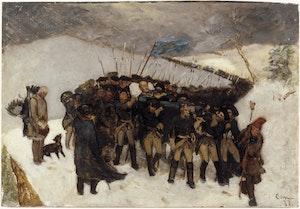 KARL XII:s LIKFÄRD 1877 av Gustaf Cederström