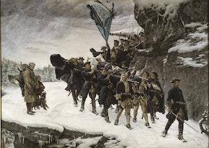 KARL XII:s LIKFÄRD 1884 av Gustaf Cederström