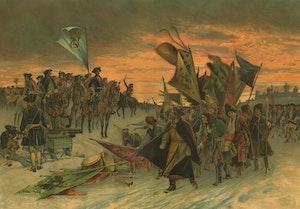 KARL XII:s SEGER VID NARVA av Gustaf Cederström