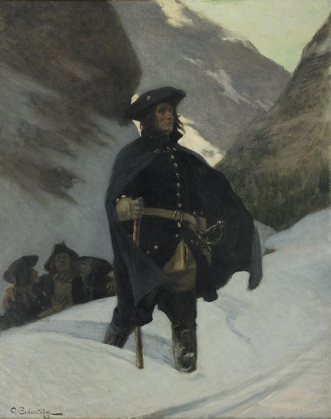 KAROLINER FRÅN ARMELDTS ÅTERTÅG av Gustaf Cederström