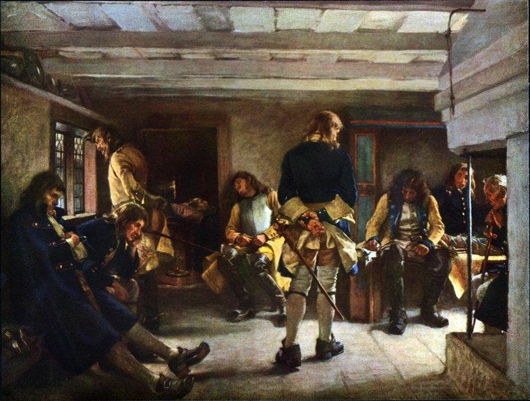 KARL XII:s LIKVAKA av Gustaf Cederström