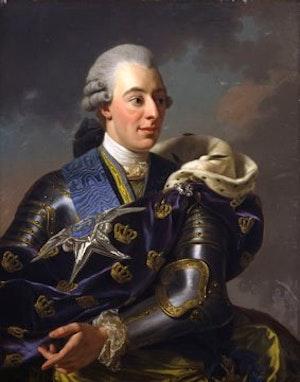 GUSTAV III I RUSTNING av Alexander Roslin