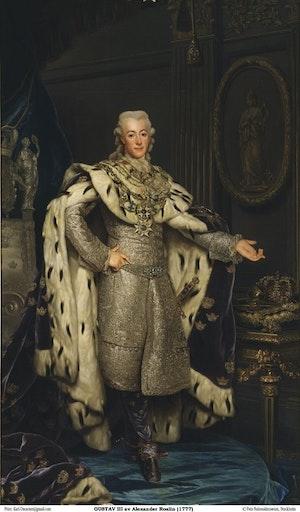 GUSTAV III I KRÖNINGSSKRUD av Alexander Roslin