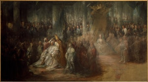 KRÖNINGEN AV KUNG GUSTAV III av Carl Gustaf Pilo