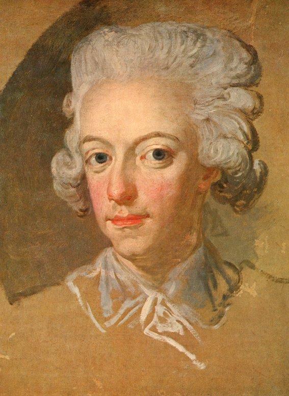 GUSTAV III PORTRÄTT av Lorenz Pasch d.y.