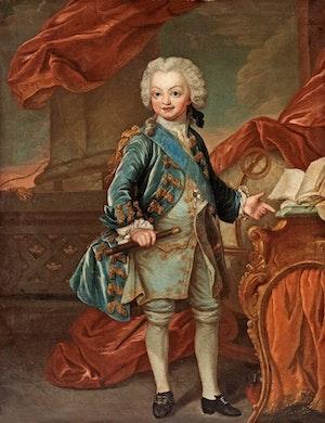 GUSTAV III SOM BARN av Lorenz Pasch d.y.