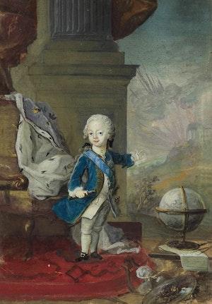 GUSTAV III SOM KRONPRINS av Lorenz Pasch d.y.