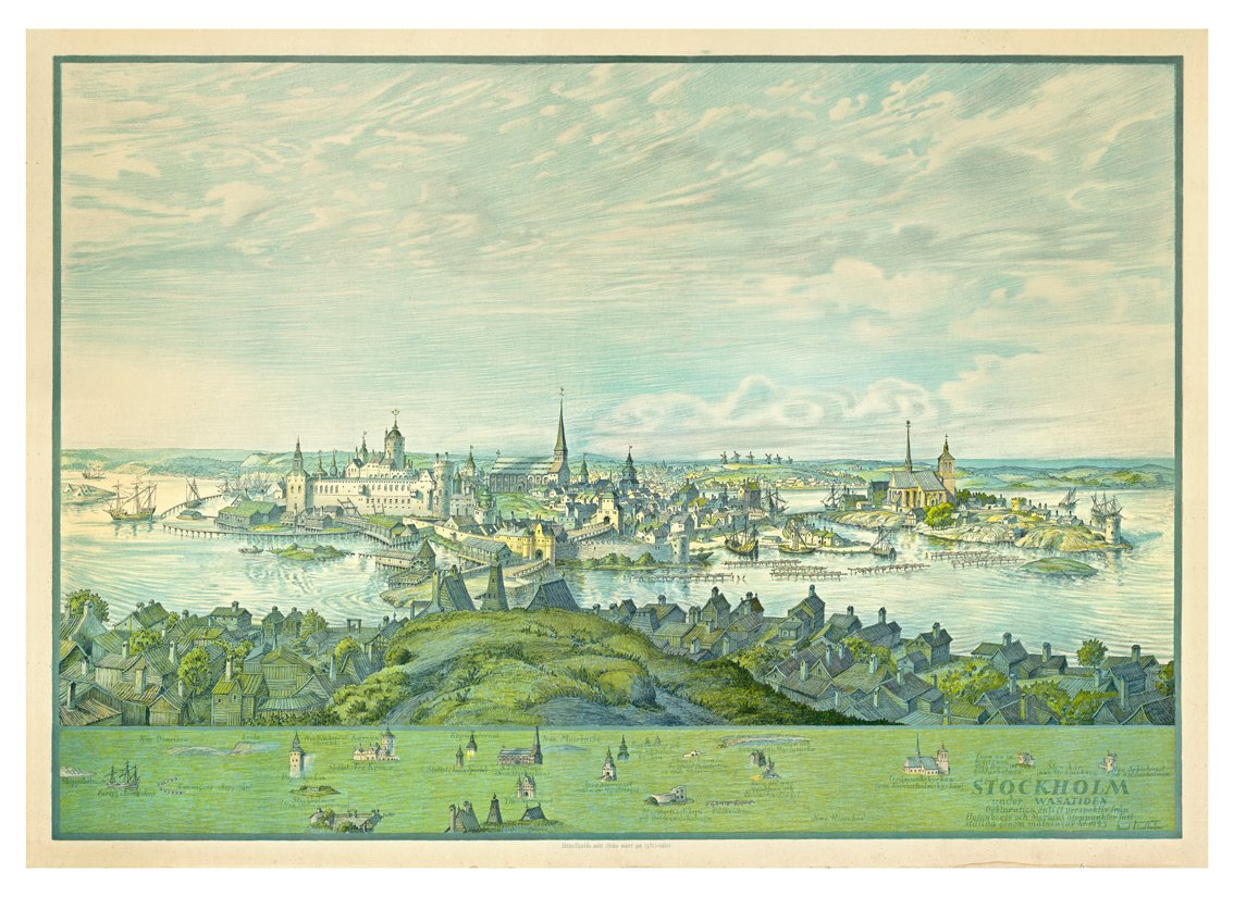 STOCKHOLM UNDER WASA TIDEN fastställd genom mätningar 1925