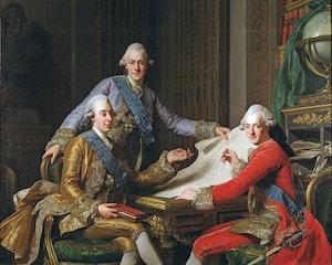 GUSTAV III OCH HANS BRÖDER av Alexander Roslin
