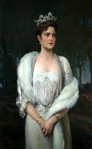 TSARITSA ALEXANDRA FEODOROVNA ROMANOVA by/av Alexandr Makovsky