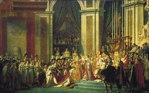 KEJSARE NAPOLEONS KRÖNING av Jacques-Louis David