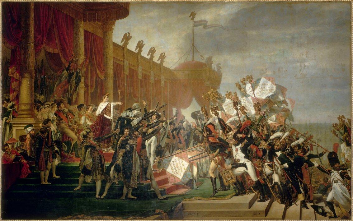 OFFICERARNAS ED TILL KEJSARE NAPOLEON av Jacques-Louis David
