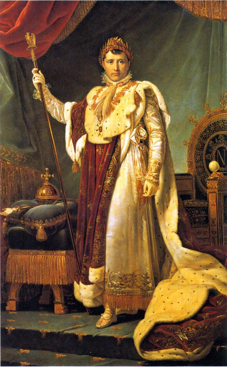 NAPOLEON I KRÖNINGSSKRUD av François Gérard