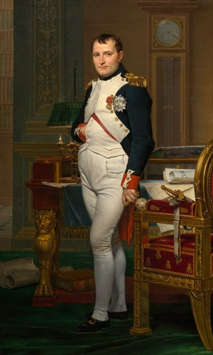 KEJSARE NAPOLEON I SITT ARBETSRUM av Jacques-Louis David