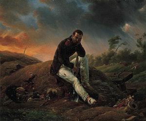 WATERLOO - DEN SISTE GRENADJÄREN av Emile Jean Horace Vernet