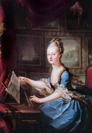MARIE ANTOINETTE SOM FEMTONÅRING av Franz Xaver Wagenschön