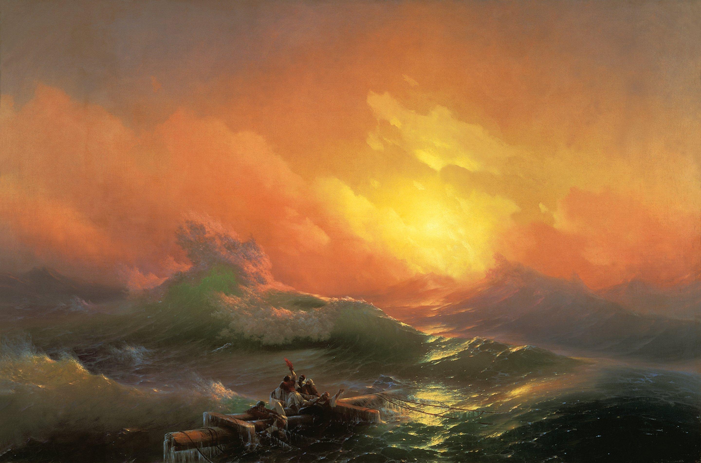 NIONDE VÅGEN av Ivan Konstantinovich Aivazovsky