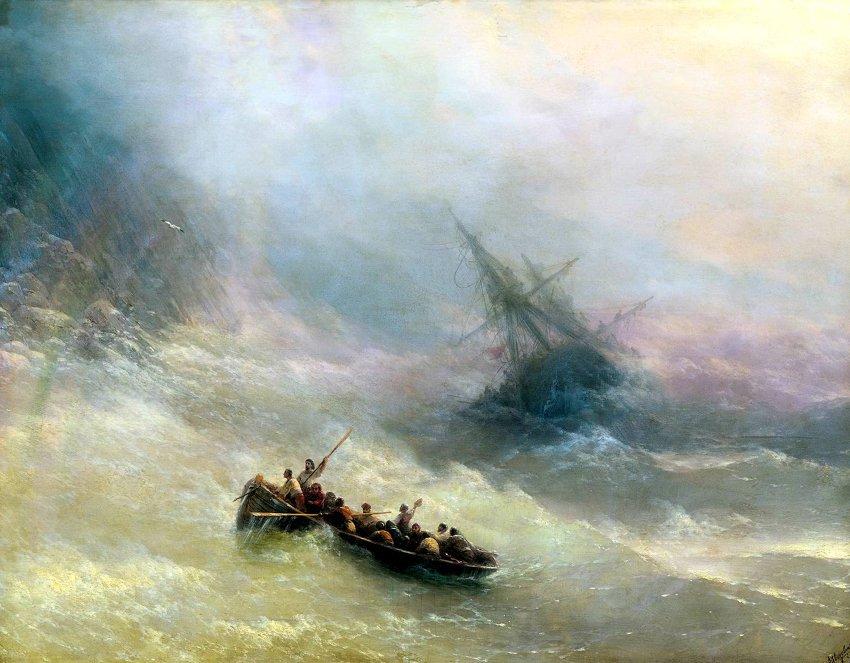 REGNBÅGEN (Storm) av Ivan Konstantinovich Aivazovsky