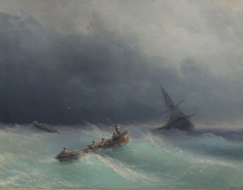 STORMIGT HAV av Ivan Konstantinovich Aivazovsky