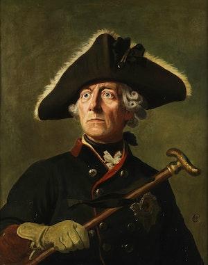 FREDRIK II av PREUSSEN porträtterad av Wilhelm Camphausen