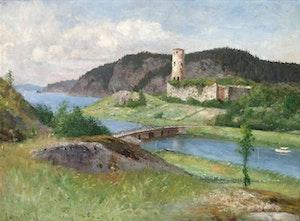 STEGEBORGS SLOTTSRUIN 1896 av OLOF HERMELIN