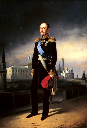 TSAR NIKOLAJ I AV RYSSLAND målat av Egor Boatman